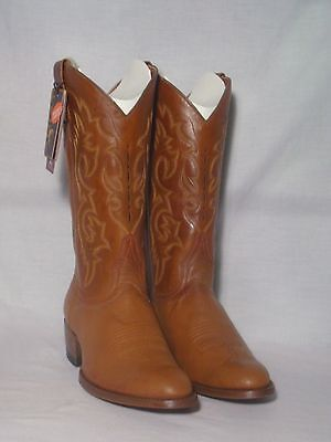 New Ariat Smooth Quill Ostrich Western Boots W/ Leather Sole Mens 8.5EE