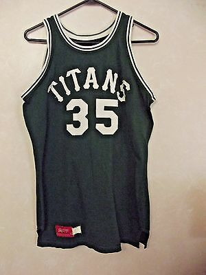 1970's Illinois Wesleyan Titans Game Used College Basketball Jersey #35 Rawlings