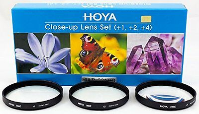 Hoya 55mm Close-Up Filter Set (+1 +2 +4) Multi Coated Diopters