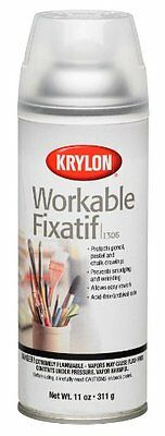 Krylon 1306 Workable Fixatif Spray Clear, 11-Ounce Aerosol