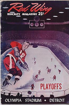 ICE HOCKEY PROGRAMME - RED WINGS v MAPLE LEAFS - STANLEY CUP 1954-55