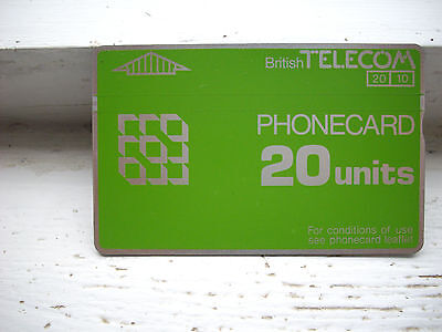 Collectable BT Phone card 20 units