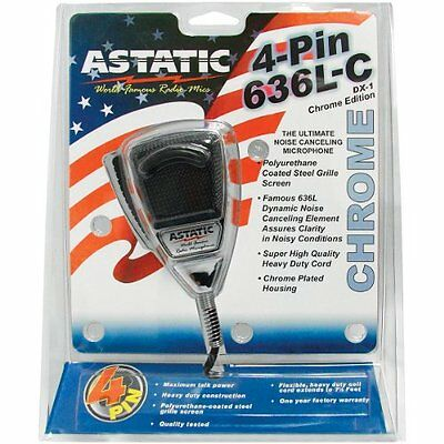 ASTATIC 302-10187 4-Pin Noise-Cancelling Microphone (Chrome)