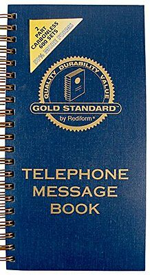 Rediform Gold Standard Telephone Message Book, 2.75 x 5 inch