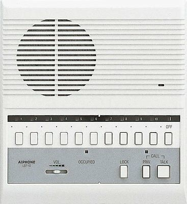 AIPHONE LEF-10 Open Voice Master Station, 10 Call, 11 Stations, 8-1/8 x 7-1