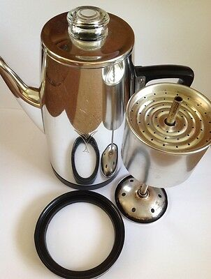 Vintage Sona J. 985 Stove Top Coffee Maker Complete & Good Condition