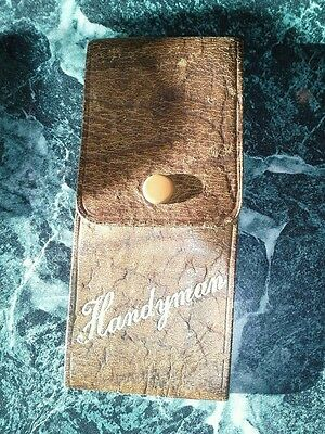Handyman Leather Tool Pouch and Tools, Vintage? VGC
