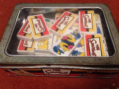 THE SIMPSONS Dominos play fun family rare game in metal tin