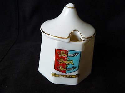 Crested China Willow Art Mustard Pot Hastings