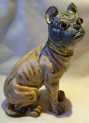 Rare Mr Le Baron' a Galle style faience French Bulldog ,C1900,STUNNING