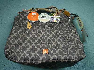 Pacapod Changing Bag-Napier Charcoal Design- still Bagged- New