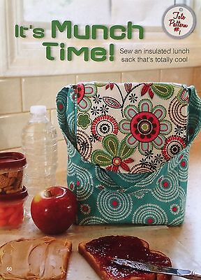 Quilt Pattern from Magazine/Book - It's Munch Time insulated lunch sack