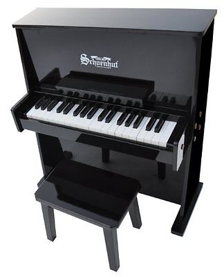 Schoenhut 3798B - 37 Key Day Care Durable with Bench (Black)