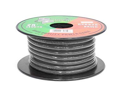 Pyramid RPB825 8 Gauge Brown Ground Wire 25 Feet OFC