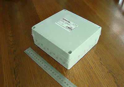 Electrical Enclosure IP67 Polycarbonate box with knockouts 175 x 175 x 75mm NEW