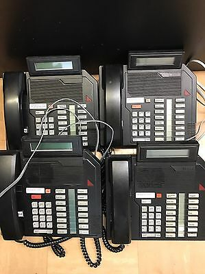 Lot of 4 Meridian/NT M2616 Business Phones w/Digital Display (Black)