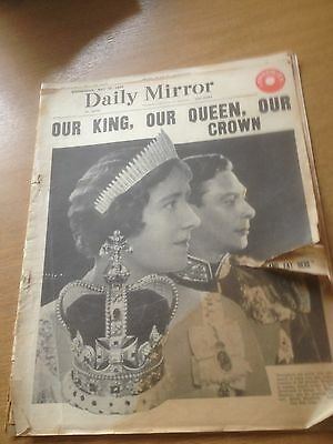 Daily Mirror : Wednesday May 12, 1937 : Coronation Of King George V1