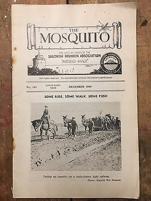 The Mosquito Journal Salonika Reunion WW1 Campaign British Army Balkans  1968