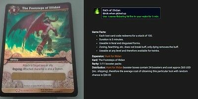 The footsteps of Illidan World of Warcraft Loot Card unscratched Path of Illidan