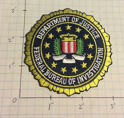 #11 - FBI Seal Jagged Separated Edges Dull Yellow / Light Green Connected Laurel