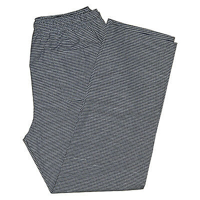 gingham  check chef trousers pant black white elasticated pull cord 3 pockets
