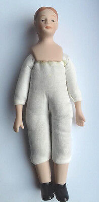 Dolls House Porcelain Soft Bodied Undressed Man Doll in 12th scale