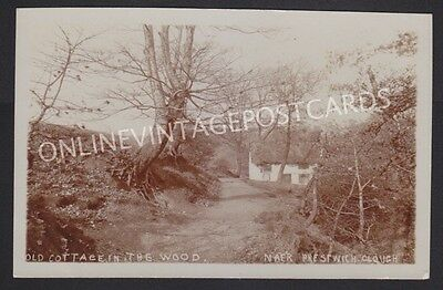 Manchester Suburbs Old Cottage In The Wood Near Prestwich Real Photo