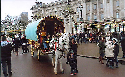 Romany Gypsy Cannon's London Parade 2015 Reading Vardo Caravan,Bow Top Wagon p.c