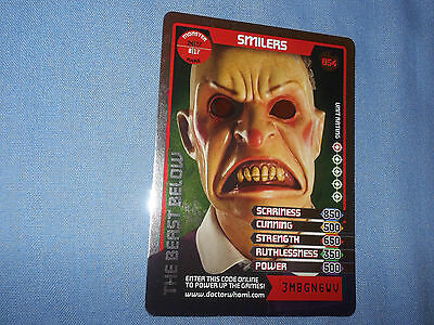 DOCTOR WHO MONSTER INVASION TRADING CARD (Rare Monster 054 Shiny)
