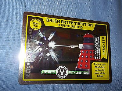 DOCTOR WHO MONSTER INVASION TRADING CARD (Rare Adventure 155 Shiny)