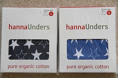 NWT HANNA ANDERSSON ORGANIC unders underwear BOXER BRIEF BLUE S 100 110 4T 5 6