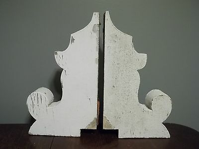 Lot A: Antique Victorian Pair Corbels Wood Shabby Cottage Porch Old Vintage...