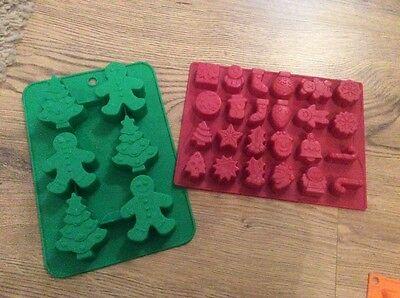 Two Christmas silicon moulds