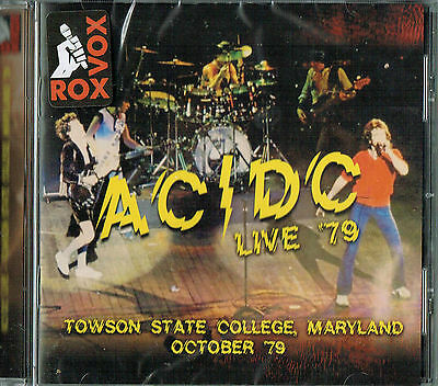 AC/DC - Live '79 Towson State college,Maryland ,October 79 (New & sealed)