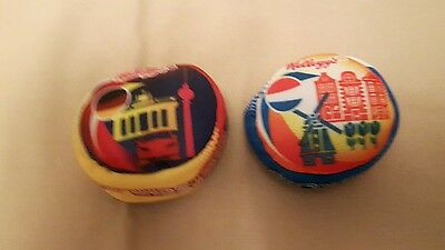 2 collectible football Hacky sacks