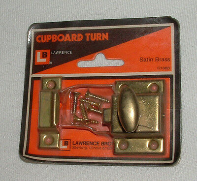 Vintage Cabinet Latch Lawerence Brothers Cupboard Turn New Old Stock