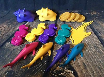 Battat Kids Swimming Diving Water Sinking Pool Toys Shells Dolphins Coins