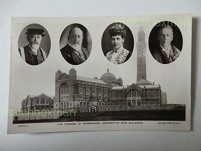 Opening Birmingham University's New Buildings Real-Photograph Postcard A686/i