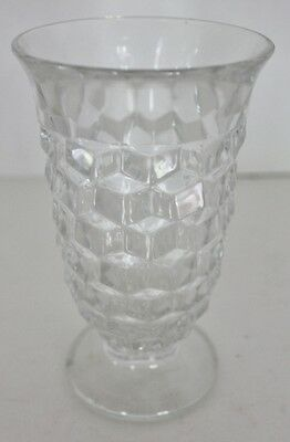 "Fostoria American Clear Glass Footed Ice Tea Water Goblet 6"" - EUC"