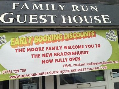 Guesthouse B&B Holiday Skegness inflation buster  £200 for 5 nights for 2 people