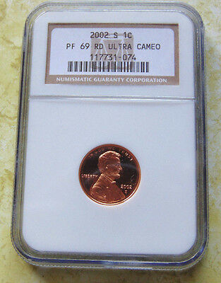 2002 S Lincoln Memorial Cent PF69 RD Ultra Cameo