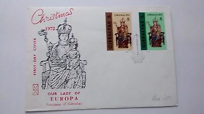 Gibraltar First Day Cover Christmas 1972