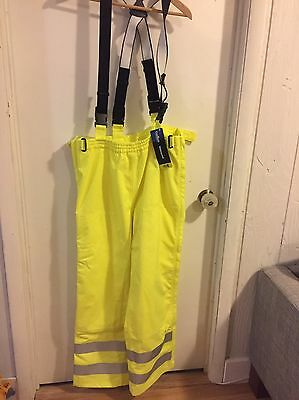 Carhartt Waterproof High Vis Pants With Suspenders, ANSI Class E, 3m, Large