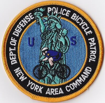 Department of Defense Bicycle Patrol New York  Police Patch, NY NEW