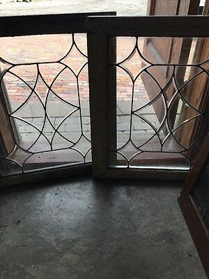 Sg 1113 Two Available Price For Each Four Point Beveled Glass Window