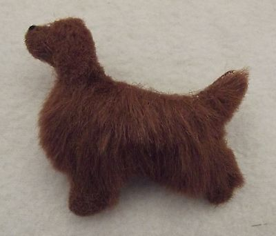 IRISH SETTER dog Part NEEDLE FELTED PIN BROOCH