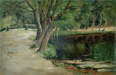 Illegible Russian French Hungarian Impressionist Dombrovszky Dubovsky Painting