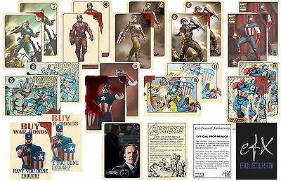 Agent Coulson's Vintage Captain America Trading Cards-EFX Official Prop Replica