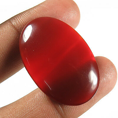 Lovely Oval Cabochon 33.60 Cts. Natural CARNELIAN Gemstone 35x23 mm Manufacturer
