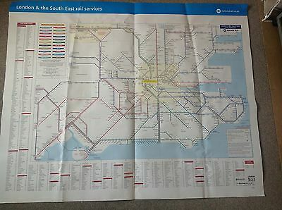 London & The South East Large Railway Map 50x40 Inches